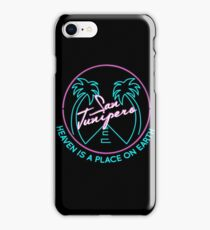 """San Junipero """"Heaven Is a Place on Earth"""" iPhone Case/Skin"""