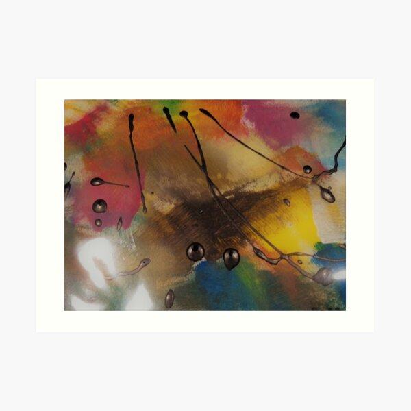 Drops of Paint Art Print