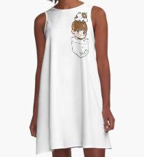 Monsta X Kihyun & Hamster in Pocket A-Line Dress