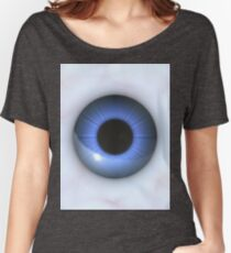 creepy blue eyes  Women's Relaxed Fit T-Shirt