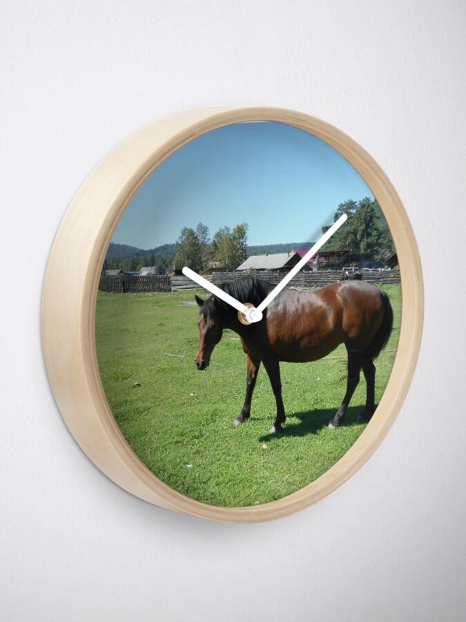 Alternate view of Horse. Beautiful horse image Clock