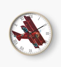 Red Baron - Fokker Triplane Clock