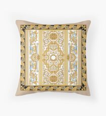 Versace Inspired Gold Leaf Design Throw Pillow