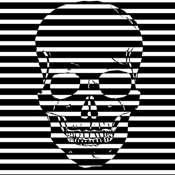 Striped Skulls by DesignsAndStuff