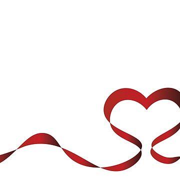 Ribbon Heart by Lavenna