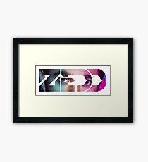 zedd eye text Framed Print