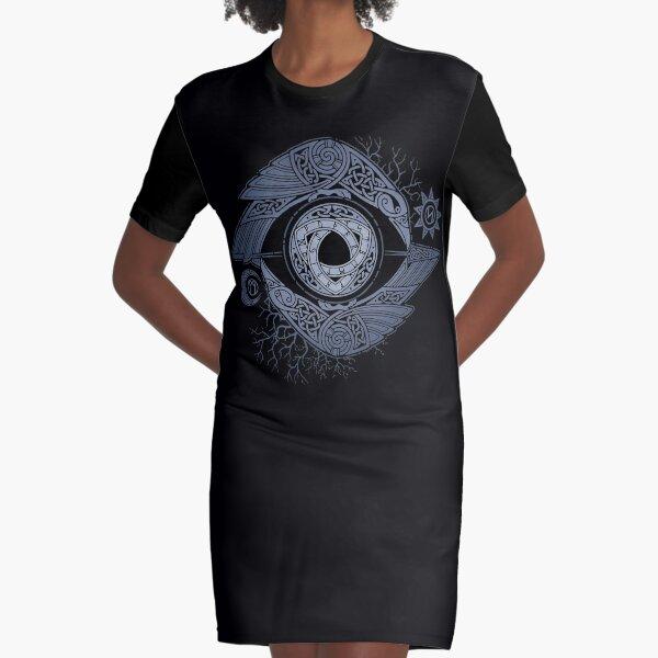 ODIN'S EYE Graphic T-Shirt Dress