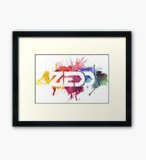 zedd color sparks Framed Print