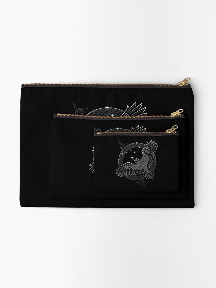 Alternate view of NORTHERN RAVEN Zipper Pouch