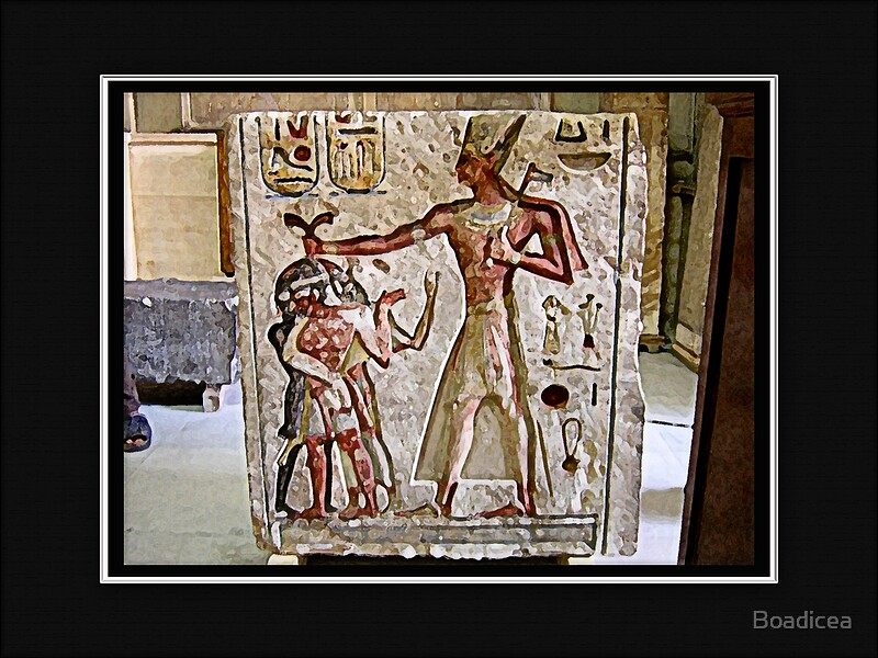 Quot egyptian stone carving by boadicea redbubble