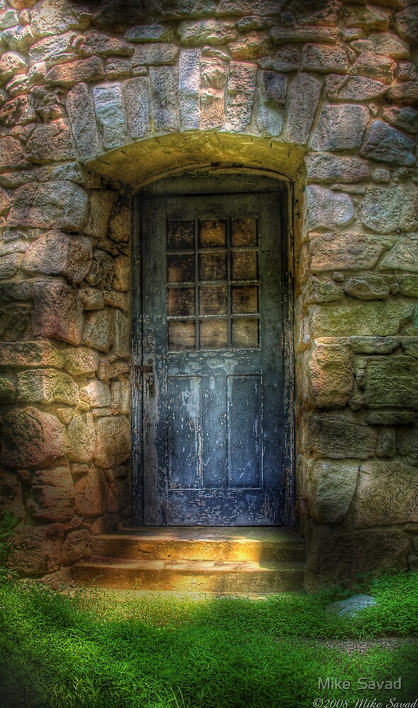 A rather old door leading to somewhere by Michael Savad