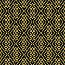 Geometric Pattern - Black and Gold by lisabdesign