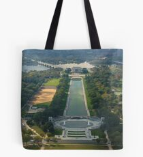 View from the top of the Washington Monument Tote Bag