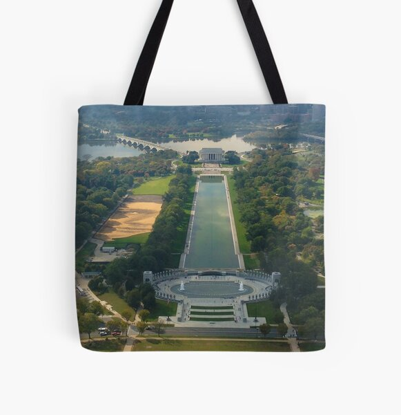 """""""Out of Many, One"""" land sculpture All Over Print Tote Bag"""