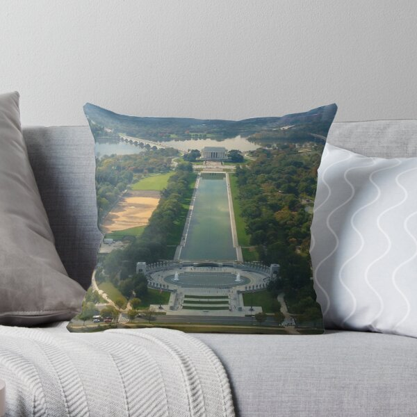 """""""Out of Many, One"""" land sculpture Throw Pillow"""