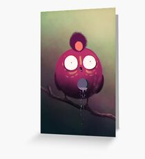 the dripping bird Greeting Card