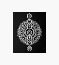 The Seven Chakras Mandala - White Print Art Board