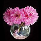 Pink Dahlias by Nancy Polanski