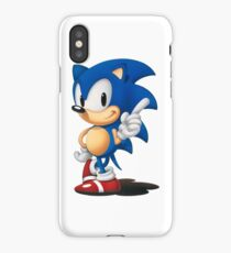 The Classic Blue Hedgehog (white background) iPhone Case/Skin