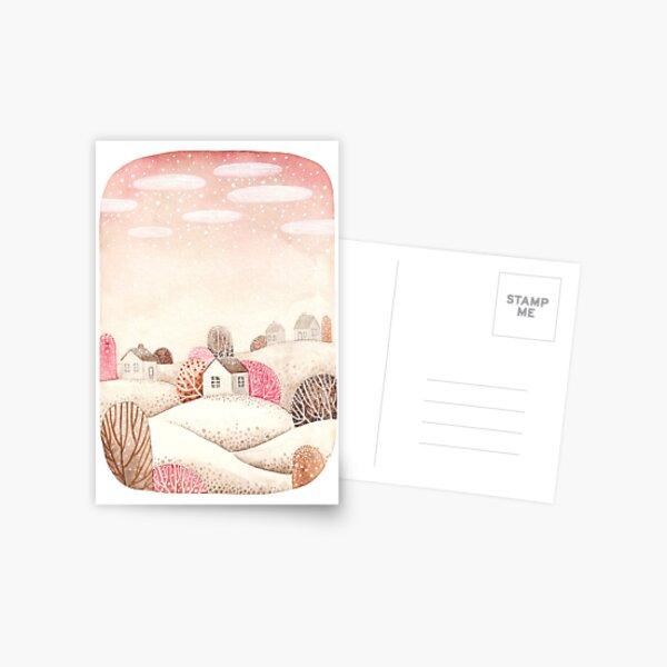 Pink winter day Postcard