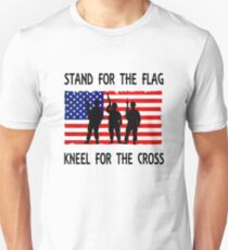 stand for the flag kneel for the cross t shirt Unisex T-Shirt