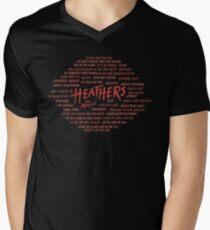 Heather! T-Shirt mit V-Ausschnitt