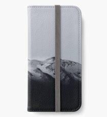 Snow on Etna volcano, Italy. iPhone Wallet/Case/Skin