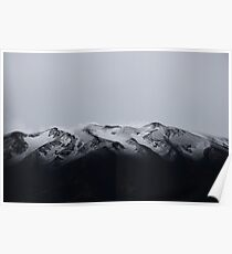 Snow on Etna volcano, Italy. Poster