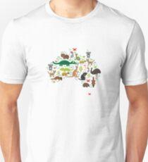 Australian animal map  T-Shirt