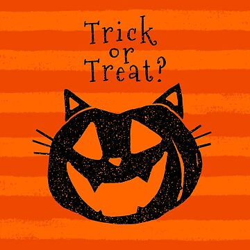 Trick or Treat? Halloween cat lady pumpkin by DarkMaskedCats
