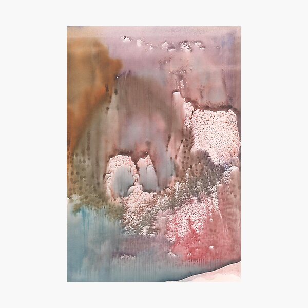 watercolor abstract, texture, watercolour Photographic Print
