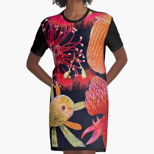 Aussie Beauties Graphic T-Shirt Dress