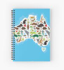 Australische Tierkarte Spiralblock