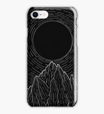 The dark sun over the mountains iPhone Case/Skin