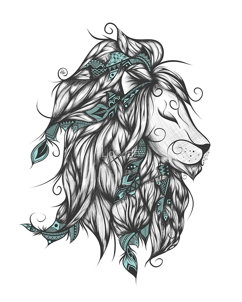 Poetic Lion Turquoise by LouJah-