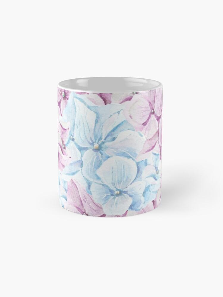 Vista alternativa de Taza Pintado a mano teal Blush rosa acuarela elegante floral
