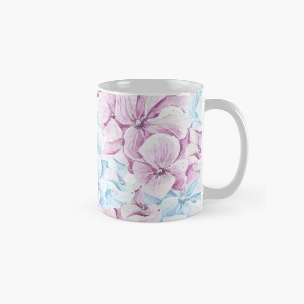 Pintado a mano teal Blush rosa acuarela elegante floral Taza