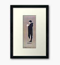 Beggarstaffs, Hamlet and the Skull Framed Print