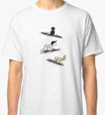 Crawling Baby Cat and Dog Doodle Illustration  Classic T-Shirt
