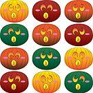 « Citrouilles d'Halloween » par Omelia-Plude