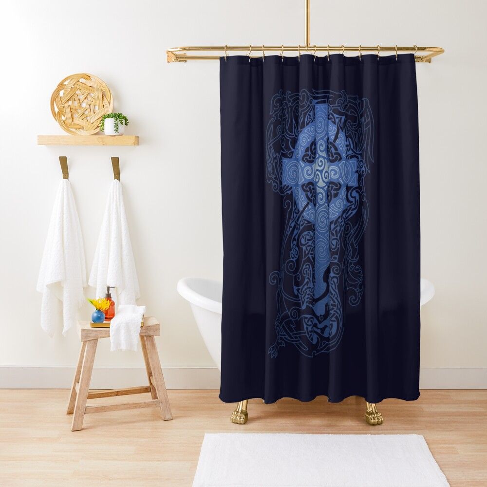 CELTIC NIGHT Shower Curtain