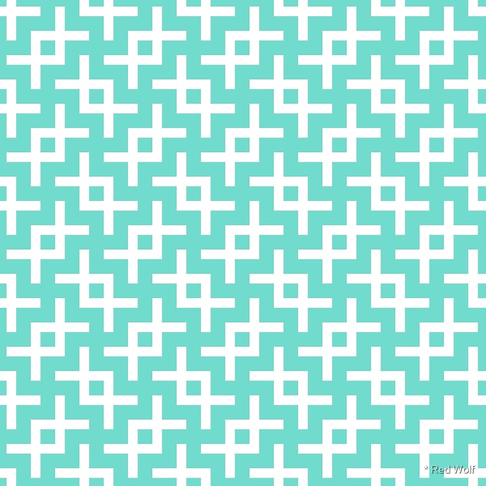 Geometric Pattern: Double Angle: Blue by * Red Wolf