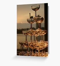 Champagne tower Greeting Card