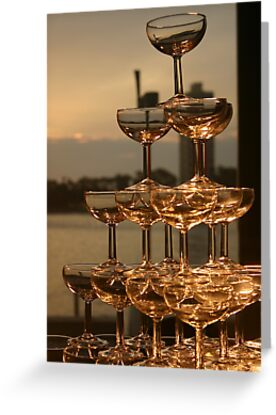 Champagne tower by Andrew  Mammoliti