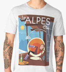 Les Alpes Chic poster Men's Premium T-Shirt