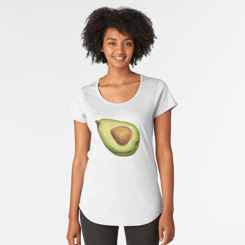 Avocado. color pencil Premium Scoop T-Shirt