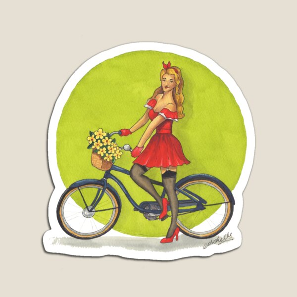 Cycle Pinup Magnet