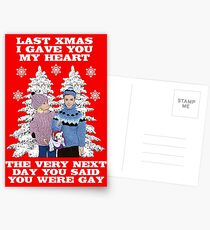 Last Christmas I Gave You My Heart - The Very Next Day You Said You Were Gay! Postcards
