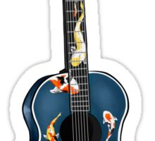 Koi fish stickers redbubble for Koi fish guitar
