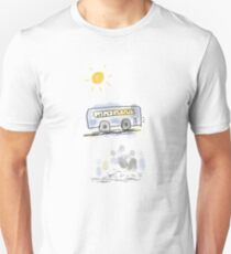 Sunny Day Bus Ride Doodle  T-Shirt